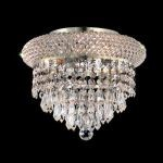 "Primo Collection 3-Light 10"" Chrome Flush Mount with Clear  Swarovski Strass Crystal 1802F10C/SS"