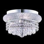 "Primo Collection 4-Light 12"" Chrome Flush Mount with Clear  Swarovski Strass Crystal 1802F12C/SS"