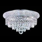 "Primo Collection 6-Light 14"" Chrome Flush Mount with Clear Royal Cut Crystal 1802F14C/RC"