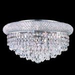 "Primo Collection 8-Light 16"" Chrome Flush Mount with Clear  Swarovski Strass Crystal 1802F16C/SS"