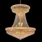 "Primo Collection 28-Light 36"" Gold Chandelier with Clear  Swarovski Strass Crystal 1802G36SG/SS"