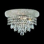 "Primo Collection 2-Light 12"" Chrome Wall Sconce with Clear  Swarovski Strass Crystal 1802W12C/SS"