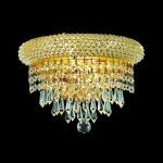 "Primo Collection 2-Light 12"" Gold Wall Sconce with Clear  Swarovski Strass Crystal 1802W12G/SS"