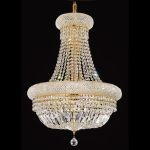 "Primo Collection 14-Light 20"" Gold Chandelier with Clear  Swarovski Strass Crystal 1803D20G/SS"