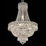 "Century Collection 8-Light 16"" Chrome Chandelier with Clear Swarovski Spectra Crystal 1900D16C/SA"