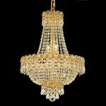 "Century Collection 8-Light 16"" Gold Chandelier with Clear Swarovski Spectra Crystal 1900D16G/SA"