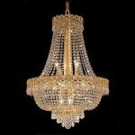 "Century Collection 12-Light 20"" Gold Chandelier with Clear Swarovski Spectra Crystal 1900D20G/SA"