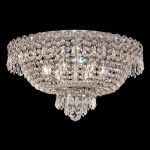 "Century Collection 6-Light 18"" Chrome Flush Mount with Clear  Swarovski Strass Crystal 1900F18C/SS"