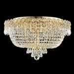 "Century Collection 6-Light 18"" Gold Flush Mount with Clear Elegant Cut Crystal 1900F18G/EC"