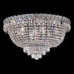 "Century Collection 9-Light 20"" Chrome Flush Mount with Clear  Swarovski Strass Crystal 1900F20C/SS"