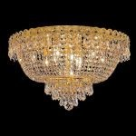 "Century Collection 9-Light 20"" Gold Flush Mount with Clear Royal Cut Crystal 1900F20G/RC"