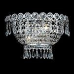 "Century Collection 2-Light 12"" Chrome Wall Sconce with Clear  Swarovski Strass Crystal 1900W12C/SS"