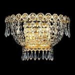 "Century Collection 2-Light 12"" Gold Wall Sconce with Clear  Swarovski Strass Crystal 1900W12G/SS"