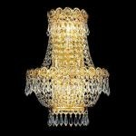 "Century Collection 3-Light 12"" Gold Wall Sconce with Clear  Swarovski Strass Crystal 1900W12SG/SS"