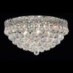 "Century Collection 6-Light 18"" Chrome Flush Mount with Clear Elegant Cut Crystal 1901F18C/EC"