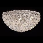 "Century Collection 9-Light 20"" Chrome Flush Mount with Clear Elegant Cut Crystal 1901F20C/EC"