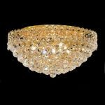 "Century Collection 9-Light 20"" Gold Flush Mount with Clear Swarovski Spectra Crystal 1901F20G/SA"