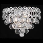 "Century Collection 2-Light 12"" Chrome Wall Sconce with Clear  Swarovski Strass Crystal 1901W12C/SS"