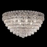 "Century Collection 9-Light 20"" Chrome Flush Mount with Clear  Swarovski Strass Crystal 1902F20C/SS"