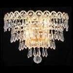 "Century Collection 2-Light 12"" Gold Wall Sconce with Clear  Swarovski Strass Crystal 1902W12G/SS"