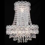 "Century Collection 3-Light 12"" Chrome Wall Sconce with Clear  Swarovski Strass Crystal 1902W12SC/SS"