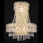 "Century Collection 3-Light 12"" Gold Wall Sconce with Clear  Swarovski Strass Crystal 1902W12SG/SS"