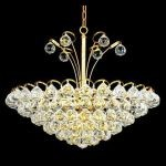 "Godiva Collection 8-Light 22"" Gold Pendant with Clear  Swarovski Strass Crystal 2001D22G/SS"