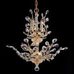"Orchid Collection 8-Light 21"" Gold Chandelier with Clear  Swarovski Strass Crystal 2011D21G/SS"