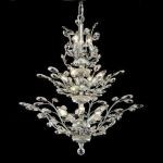 "Orchid Collection 13-Light 27"" Chrome Chandelier with Clear  Swarovski Strass Crystal 2011D27C/SS"