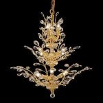 "Orchid Collection 13-Light 27"" Gold Chandelier with Clear  Swarovski Strass Crystal 2011D27G/SS"