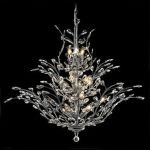 "Orchid Collection 18-Light 41"" Chrome Chandelier with Clear  Swarovski Strass Crystal 2011G41C/SS"