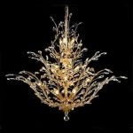 "Orchid Collection 18-Light 41"" Gold Chandelier with Clear  Swarovski Strass Crystal 2011G41G/SS"