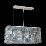 "Maxim Collection 8-Light 9"" Chrome Island Light with Clear Elegant Cut Crystal 2018D32C/EC"