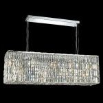 "Maxim Collection 8-Light 9"" Chrome Island Light with Clear Elegant Cut Crystal 2018D44C/EC"