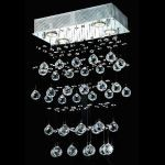 "Galaxy Collection 4-Light 8"" Chrome Flush Mount with Clear  Swarovski Strass Crystal 2021D16C/SS"