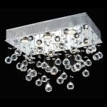 "Galaxy Collection 6-Light 12"" Chrome Flush Mount with Clear  Swarovski Strass Crystal 2021F20C/SS"