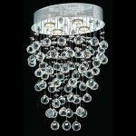 "Galaxy Collection 4-Light 11"" Chrome Flush Mount with Clear  Swarovski Strass Crystal 2022D16C/SS"