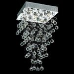 "Galaxy Collection 5-Light 16"" Chrome Flush Mount with Clear  Swarovski Strass Crystal 2023D16C/SS"