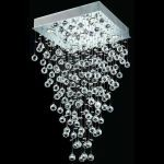 "Galaxy Collection 5-Light 20"" Chrome Flush Mount with Clear  Swarovski Strass Crystal 2023D20C/SS"