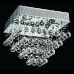 "Galaxy Collection 5-Light 16"" Chrome Flush Mount with Clear  Swarovski Strass Crystal 2023F16C/SS"