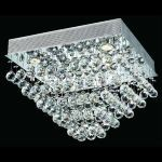 "Galaxy Collection 5-Light 20"" Chrome Flush Mount with Clear  Swarovski Strass Crystal 2023F20C/SS"