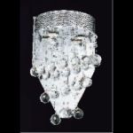 "Galaxy Collection 2-Light 12"" Chrome Wall Sconce with Clear  Swarovski Strass Crystal 2024W12C/SS"