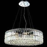 "Maxim Collection 12-Light 28"" Chrome Pendant with Clear  Swarovski Strass Crystal 2030D28C/SS"
