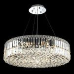 "Maxim Collection 18-Light 32"" Chrome Pendant with Clear  Swarovski Strass Crystal 2030D32C/SS"