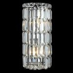"Maxim Collection 2-Light 8"" Chrome Wall Sconce with Clear  Swarovski Strass Crystal 2030W8C/SS"