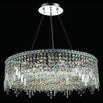 "Maxim Collection 18-Light 32"" Chrome Pendant with Clear  Swarovski Strass Crystal 2031D32C/SS"