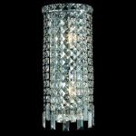 "Maxim Collection 2-Light 8"" Chrome Wall Sconce with Clear  Swarovski Strass Crystal 2031W8C/SS"