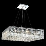 "Maxim Collection 12-Light 28"" Chrome Pendant with Clear  Swarovski Strass Crystal 2032D28C/SS"