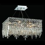 "Maxim Collection 12-Light 20"" Chrome Pendant with Clear  Swarovski Strass Crystal 2033D20C/SS"