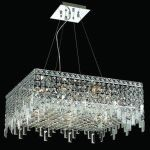 "Maxim Collection 12-Light 24"" Chrome Pendant with Clear  Swarovski Strass Crystal 2033D24C/SS"